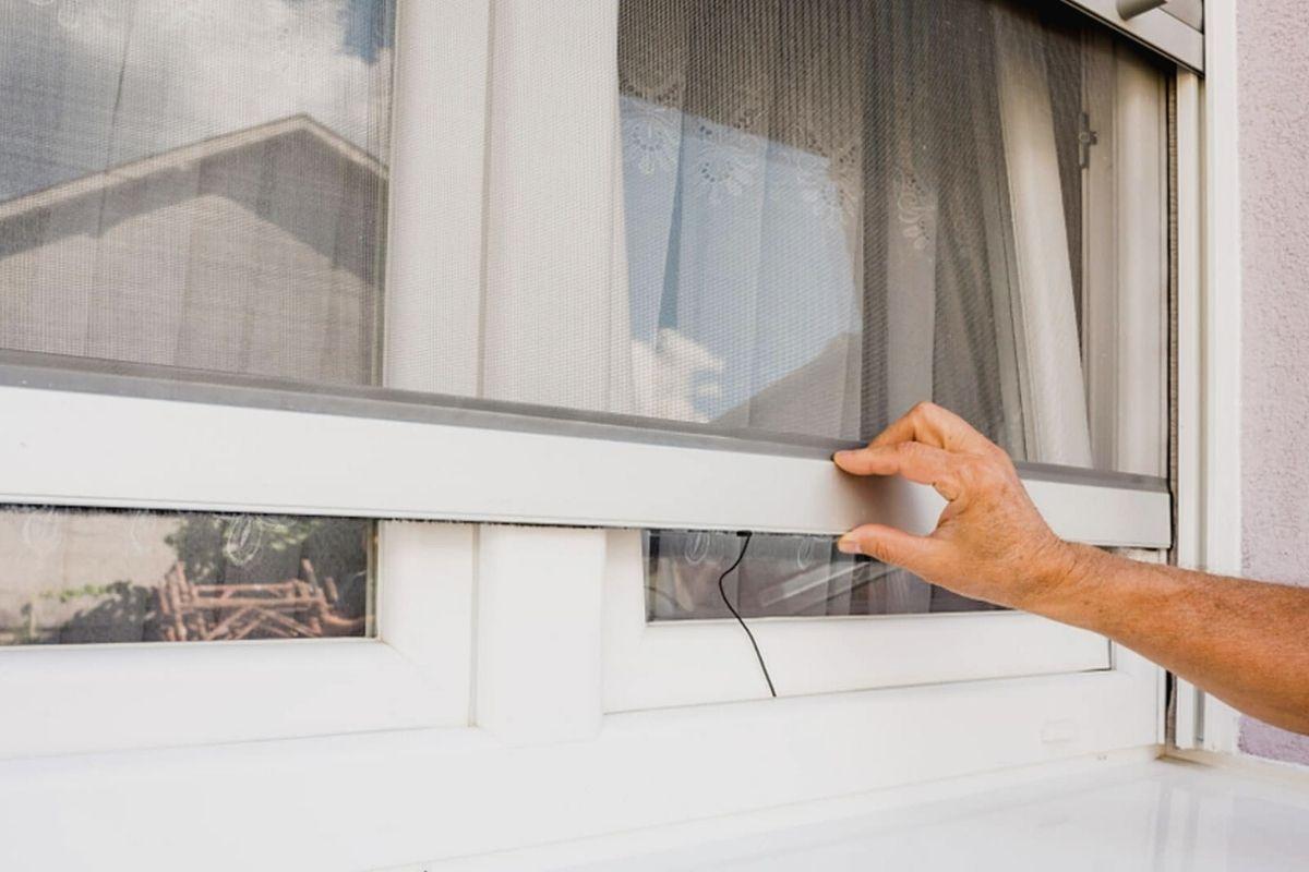 Instalada una mosquitera magnética para ventana